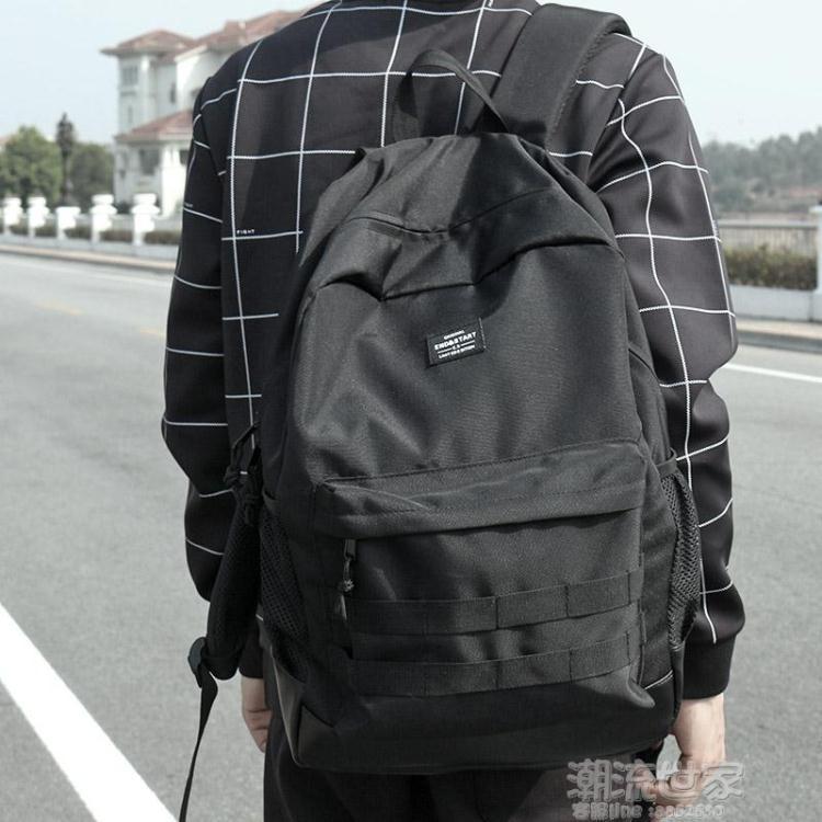 新款原创潮牌双肩包男背包时尚潮流学生书包日本街头大容量旅行包