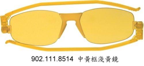 義大利名牌 摺疊型 太陽眼鏡 Nannini Solemino 2 淺黃色鏡片(降價囉!)