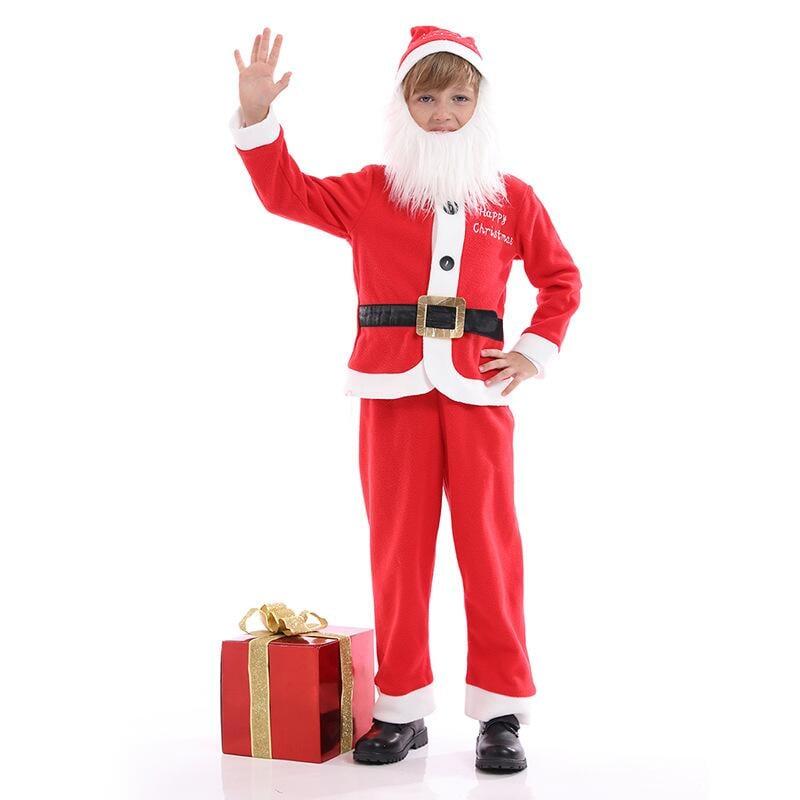 圣誕老人兒童服裝男童女童裝扮圣誕表演服幼兒演出服圣誕節服套裝