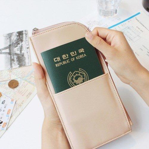 ♀高麗妹♀韓國 seeso PASSPORT POUCH 護照包/機票.鈔票.零錢.卡片收納夾附手腕繩(3色選)預購