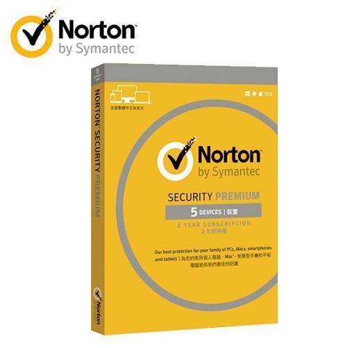 【買一盒,送一盒】【諾頓】網路安全專業(Premium) 5台2年(全新盒裝版)