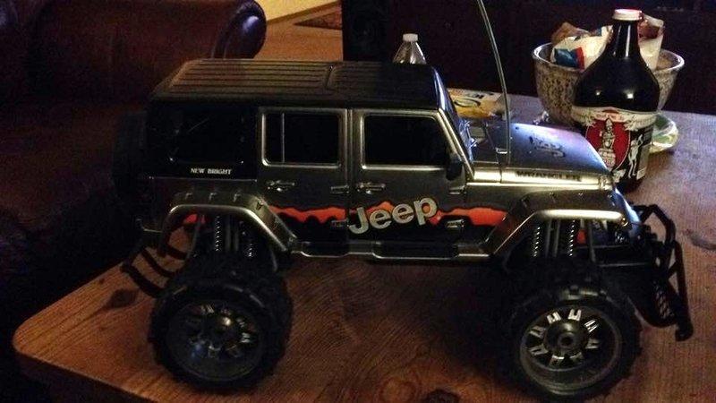 NewBright Jeep 5門JK車殼含內裝 SCX10 攀岩改裝 (原廠銀色車殼)
