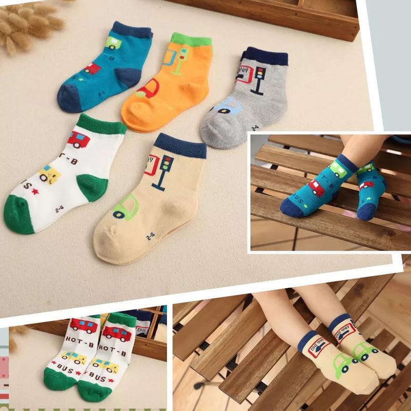◾️ Yoga 生活館 👫◾️新品兒童襪子韓版爆款可愛秋冬款寶寶襪子舒適透氣純棉兒童 (5雙一組)
