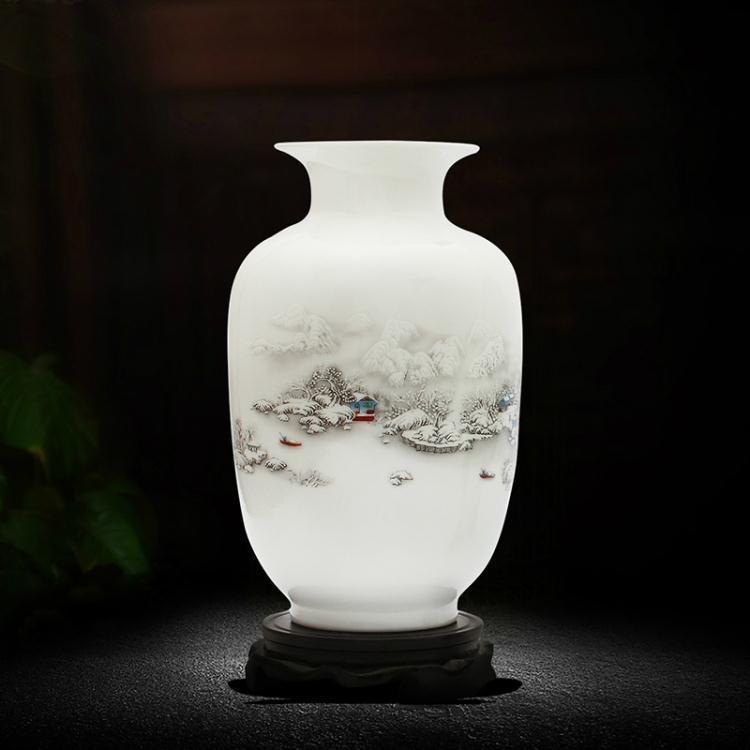 陶瓷器小花瓶家居飾品擺件插花客廳電視柜裝飾工藝品擺設j7【潮咖地帶】