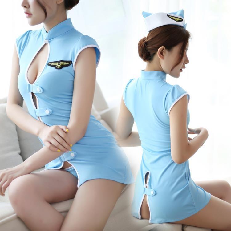 性感制服誘惑套裝露胸情趣內衣女警空姐OL秘書夜店女警水手服
