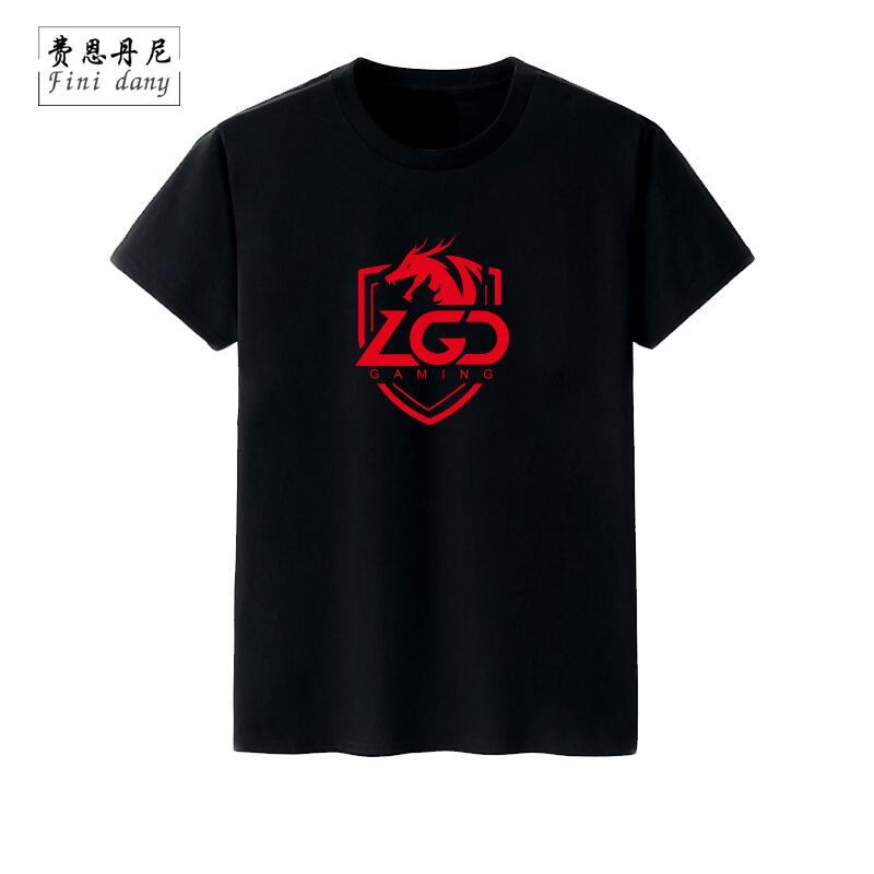 2019lol周邊老干爹LGD戰隊隊服 夏季比賽服短袖t恤衫學生男女體恤