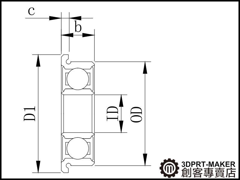 【3DPRT 專賣店】★258★MF148 ZZ 法蘭杯士 軸承 有邊 帶邊 培霖 全新大陸製 高精度 0.01