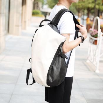 後背包韓版休閒男包餃子包潮流學生書包中學生書包雙肩背包