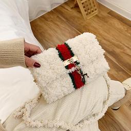 DIY手工製作包 珊瑚絨包包 材料包 小香風斜跨包包 毛線包 禮物 情人節禮物 生日禮物 手做【RB573】