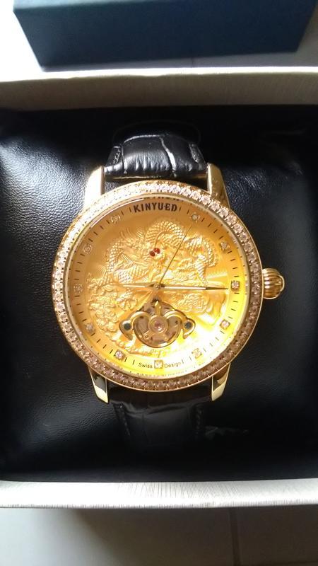 KINYUED國王中國風金龍機械錶