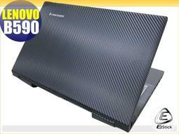 【EZstick】Lenovo IdeaPad B590 Carbon黑色立體紋機身貼 DIY包膜