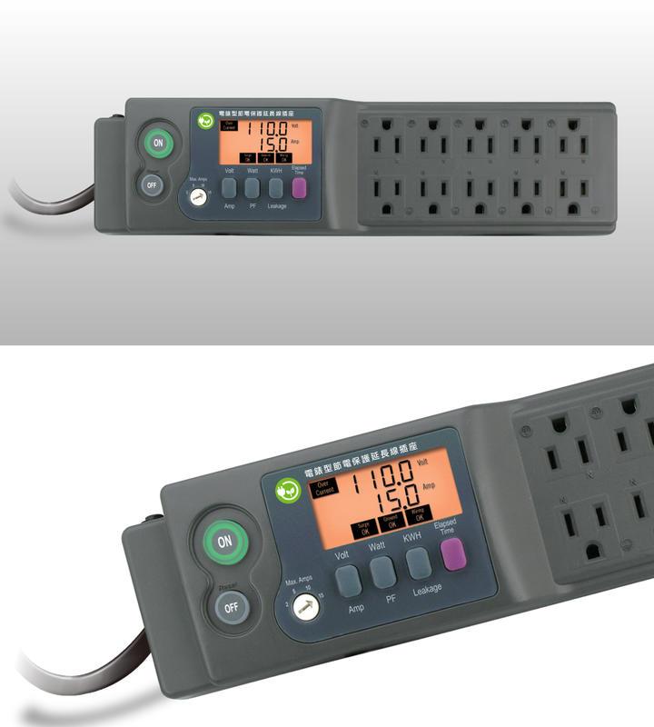 2024I電錶型節電保護延長線插座 電源監測電表+智慧開關+電源異常保護+可設定過電流保護功能+突波吸收 用電安全必備