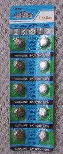 台南 AG13 LR44 1.5V 水銀電池 紐扣電池 鈕扣電池 (10顆)