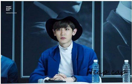 【預購】exo帽子吳亦凡燦烈李易峰同款毛呢禮帽英倫復古純色光板波浪邊