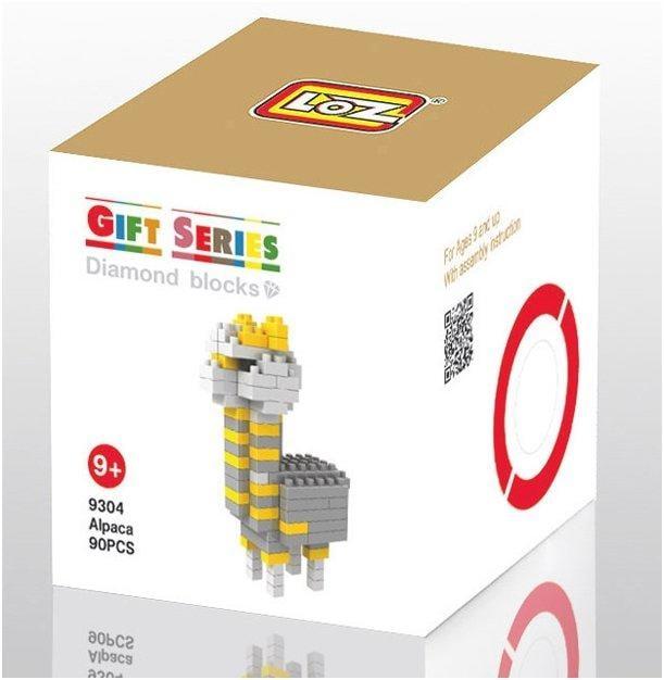 <補雞幫>拼裝積木玩具 loz 小顆粒 鑽石 樂高積木 雜色羊駝 草泥馬 9304