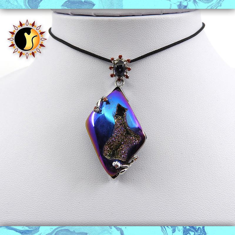 ☼§太陽貓水晶§☼【電鍍水晶】設計款 彩虹星石 瑪瑙 Agate