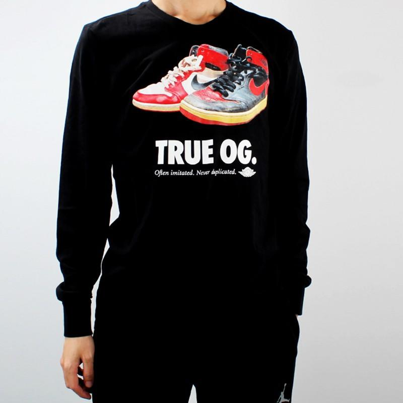 柯拔 Jordan True OG 807470-010 薄長T