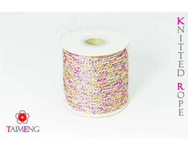 台孟牌 特殊配色針織繩 粉紫 (編織、圓織帶、繩子、手飾配料、髮飾材料、縮口繩、束帶、飾品、手提繩、包裝、手工藝、吊繩)