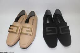 可後踩2穿 金屬飾 MIT 方頭 樂福鞋 平底包鞋 止滑鞋底 6715 @滿800元免運@