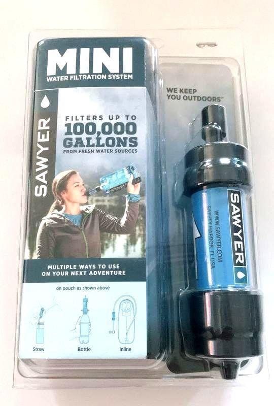 全新盒裝 Sawyer Mini Water Filter 輕量隨身戶外濾水器 (藍)