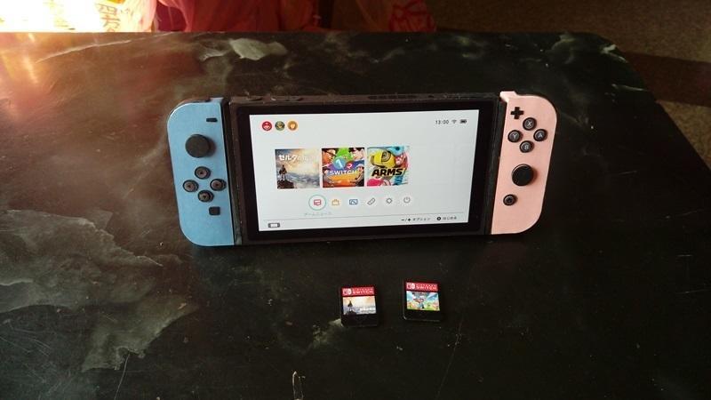 玉華香舖 任天堂 switch (附遙充電器 遊戲卡2個) 遊戲機 純手工立體製作 紙紮 紙衣 紙扎 往生