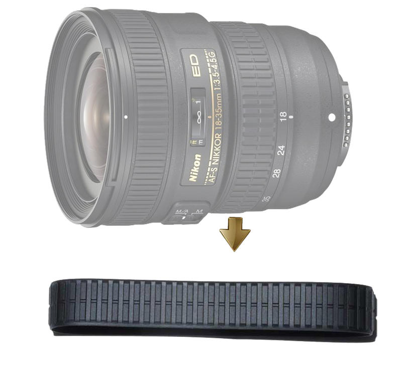 【NRC】Zoom Rubber Ring for NIKON 18-35mm F3.5-4.5G 變焦皮