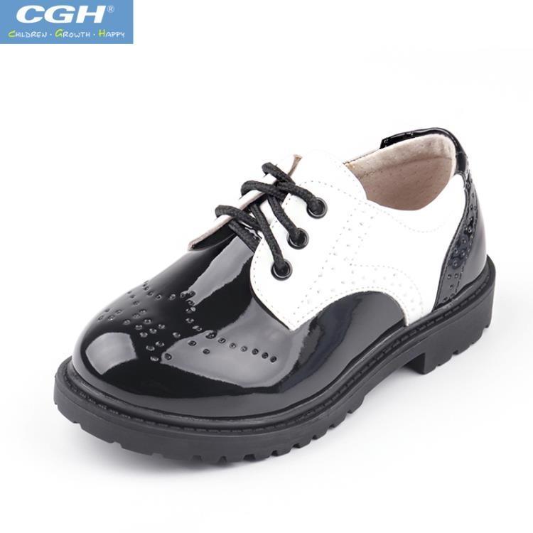 男兒童黑色春秋款英倫cgh風大小學生花童夏季男孩演出鞋男童皮鞋【潮咖地帶】