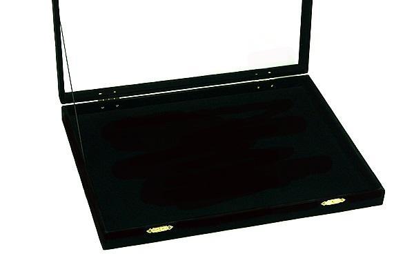 [歐克帕W0020-1]現貨-台灣製加大長毛絨玻璃蓋(平底)珠寶盒 展示盤 展示台 展示盒 戒指盒 錦盒 收納盒 首飾盒