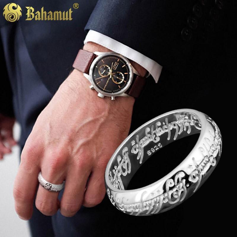 沐橙&飾品 熱賣  925銀飾戒指男士潮人手工雕刻復古風指環王魔戒潮人個性飾品創意