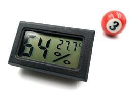◤球球玉米斗◢ 溫濕度計 迷你型 (黑白雙色、圓形方形、共4款可選) 電子可嵌入