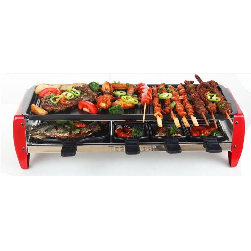 電烤爐無煙燒烤爐家用電烤盤韓式鐵板燒烤肉機鍋烤魚烤串(限宅配)