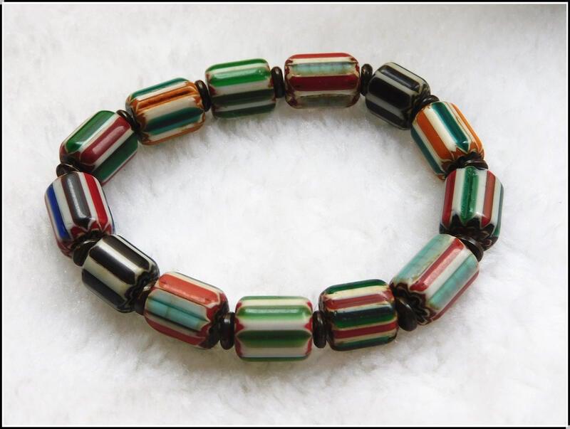 【雅之賞|藏傳|佛教文物】特賣*尼泊爾古法雪弗蘭琉璃10mm手珠~120713
