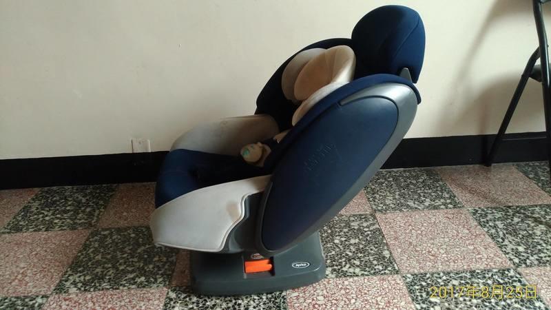 二手 Aprica 嬰兒汽車安全座椅(可平躺),五點式固定