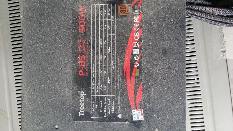 故障電源供應器   500瓦  售出不退 Treetop  P-85   80+