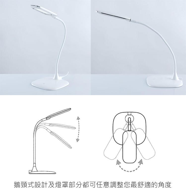 【現貨-護眼檯燈】護眼LED USB充電 三段式亮度自由調整床頭燈(9722026)閱讀檯 觸碰開關【便利速達】