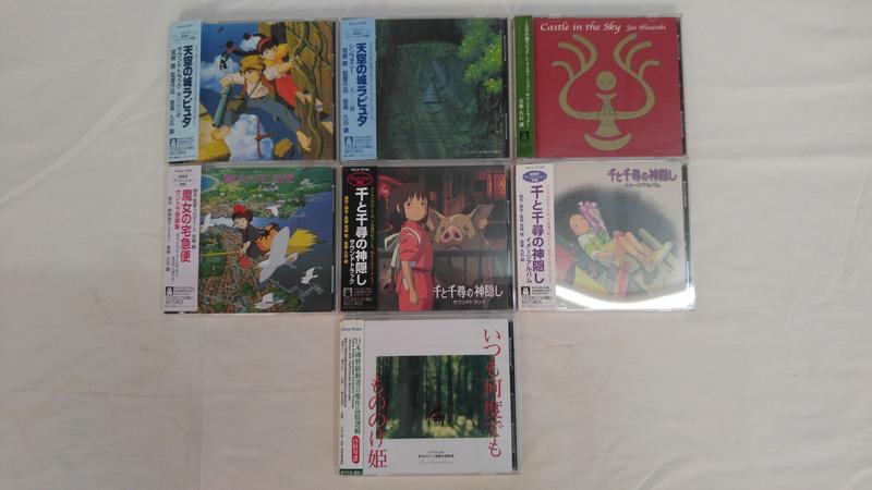 二手CD:吉卜力工作室 動畫電影原聲帶 (共七張專輯) (不拆賣)