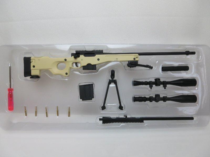 <軍火庫>精密國際AWM狙擊步槍/L96A1~比例1/6~12吋人型適用~minitoys-m06(沙漠色)