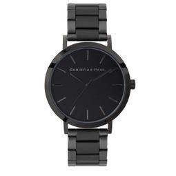 【Christian Paul】澳洲時尚手錶現貨,全黑不鏽鋼鍊條43mm,不輸DW、Cluse、COACH,男錶女錶