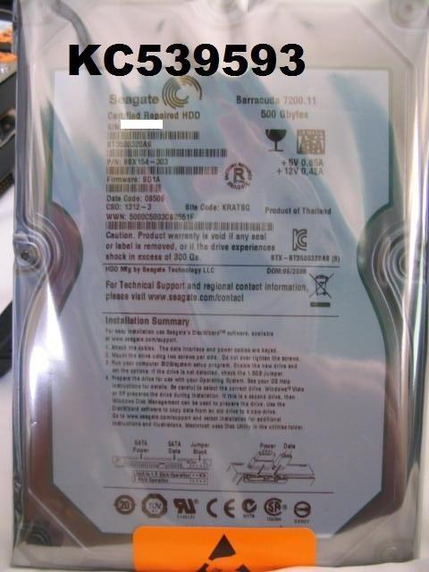 Seagate 3.5吋 ST3500320AS 500G 500GB 32MB SATA2 介面硬碟 全新靜電袋未拆