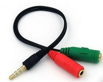 麥克風 耳機 2轉1 線材 供筆電 手機專用 耳機線 音頻線 2轉1 音頻線