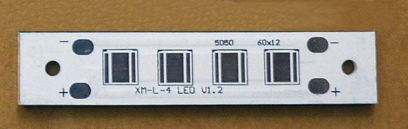 DIY 鋁基板 CREE XML 4 LED  60x12x2mm No.64