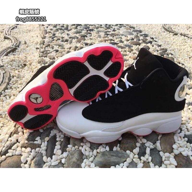 Nike Air Jordan 13 RETRO GREY TOE 黑紅白 女款