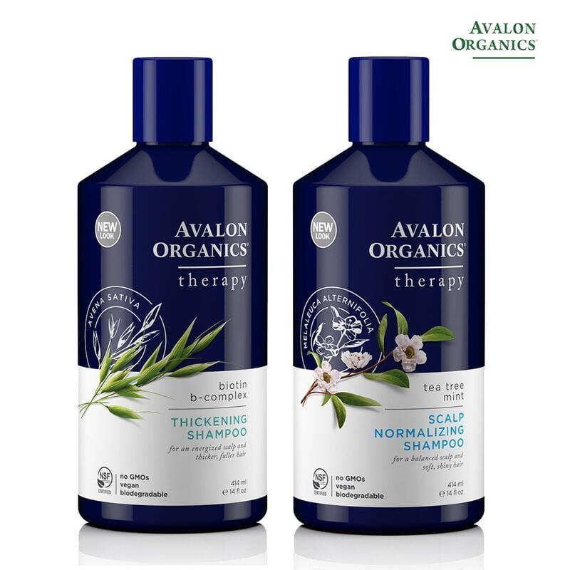 AVALON ORGANICS 茶樹薄荷頭皮調理/B群健髮 精油洗髮精(414ml/14oz)