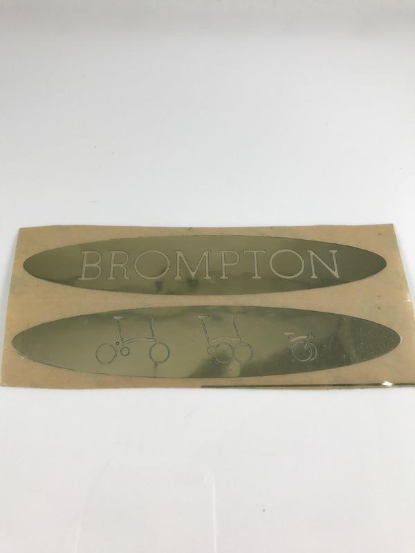 Brompton 車架 車身 金色錫製金屬貼紙  小布 Dino Kiddo