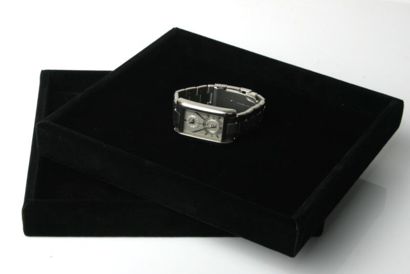 [歐克帕W0009]黑色長毛絨交易盤-中*挑鑽盤手機盤眼鏡盤黃金盤珠寶盤首飾盤飾品盤戒指盤項鍊盤胸針盤托盤展示盤