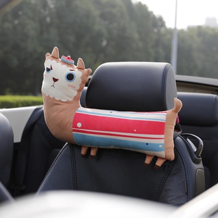 汽車頭枕護頸枕車用卡通可愛卡里努努車載座椅枕頭通用舒適四季