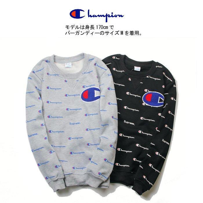 關於日单champion冠军日系秋冬装英文线条男女情侣加绒卫衣棒球衫外套