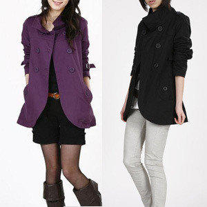 新款早秋熱賣韓版雙排扣修身顯瘦 風衣外套 反季特價