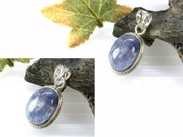 □§Disk的天然水晶§□【特殊收藏品】極稀有 天然藍髮晶花 (內包藍線石) 925純銀包框墜HP05