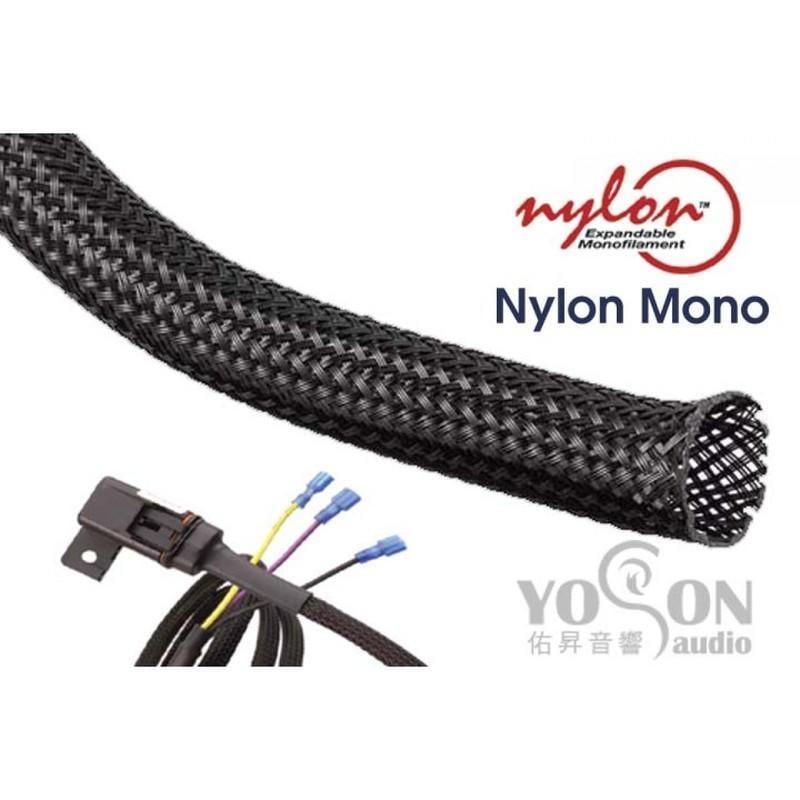 1公尺-美國Techflex NYN0.75BK (19.1mm) 尼龍 線材套管(隔離網/編織網) 黑色